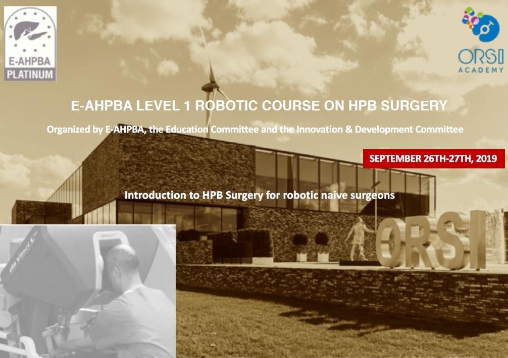 E-AHPBA Level 1 Robotic Course on HPB Surgery