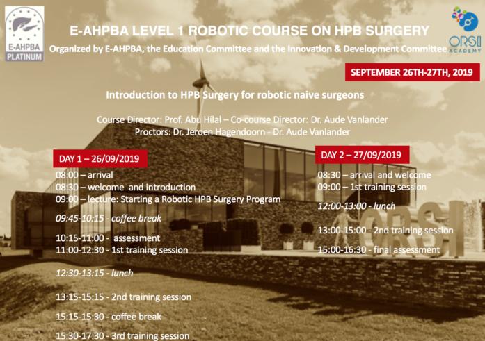 E-AHPBA Level 1 Program